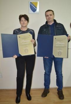 Uručene plakete J.P. RTV Jablanica i Bingo d.o.o. Tuzla