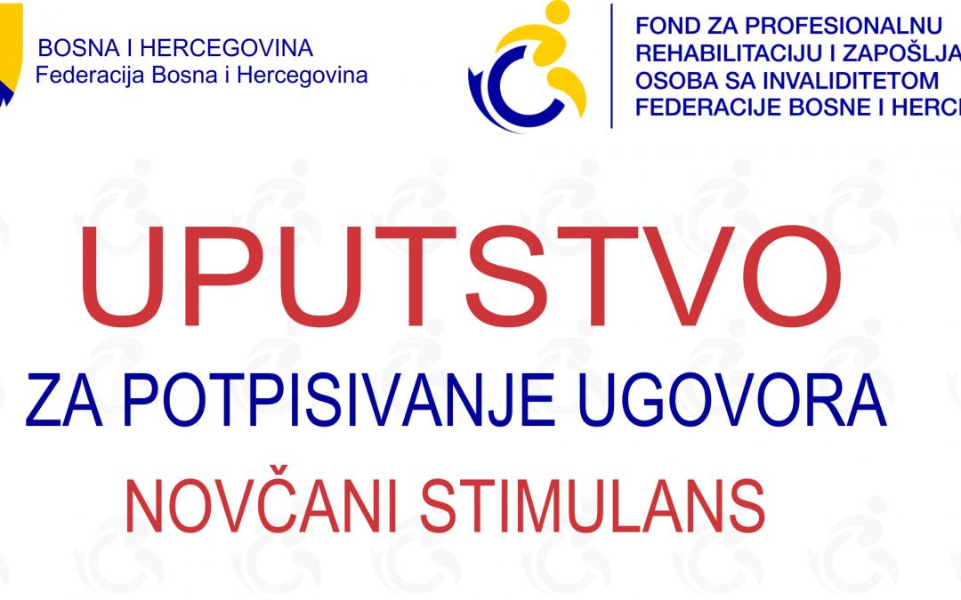 Uputstvo za potpisivanje ugovora – NOVČANI STIMULANS