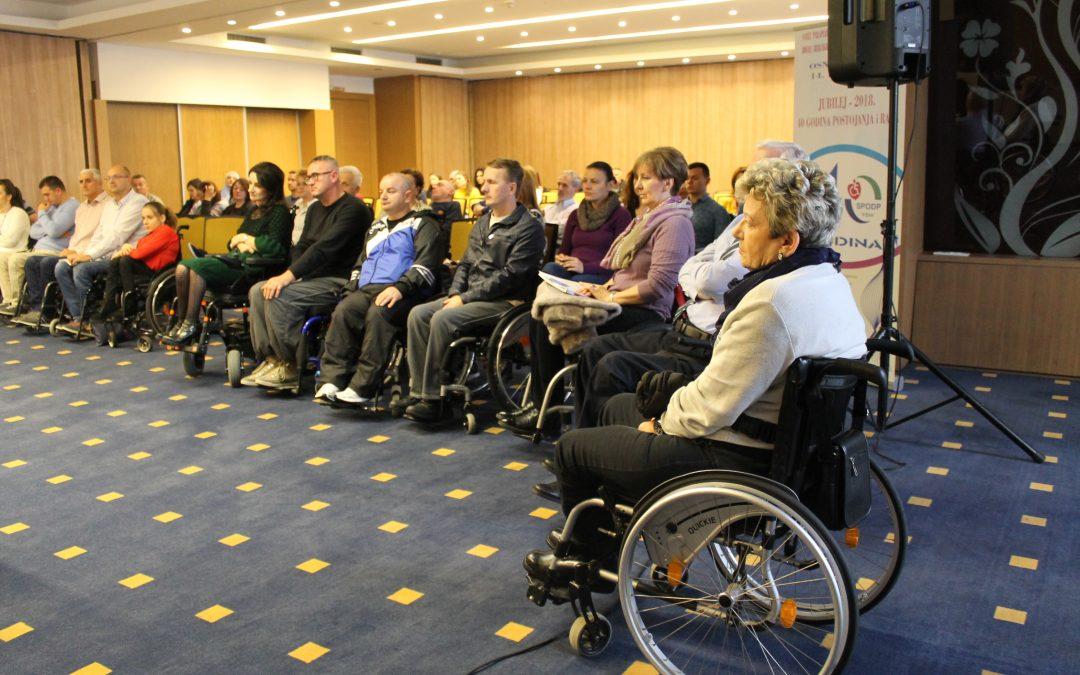 Savez paraplegičara i oboljelih od dječije paralize FBiH obilježio četrdeset godina rada