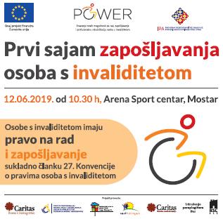 Najava događaja: Sajam zapošljavanja osoba s invaliditetom u BiH
