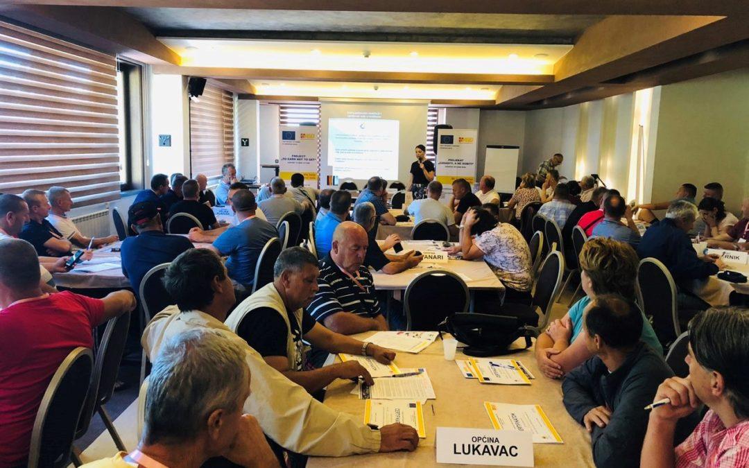 Organizovana prezentacija za žrtve mina sa područja jedanaest lokalnih zajednica