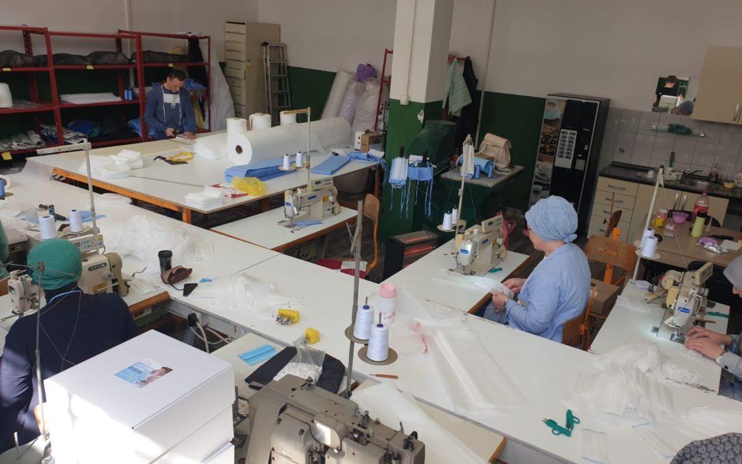Društva za zapošljavanje osoba s invaliditetom proizvode zaštitne maske za lice