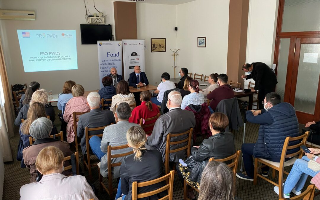 Održane prezentacije o mogućnostima zapošljavanja osoba s invaliditetom u Tuzli, Orašju, Mostaru i Sarajevu