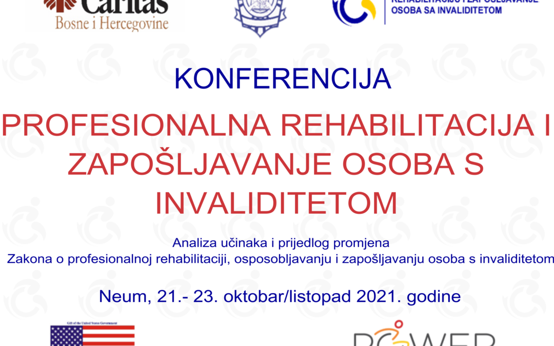 Konferencija: Profesionalna rehabilitacija i zapošljavanje osoba s invaliditetom u FBiH